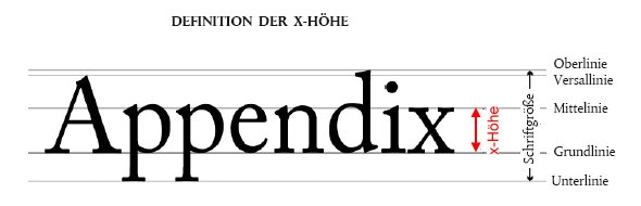 Definition x-Höhe